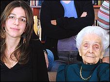 Rita Levi-Montalcini con investigadoras del EBRI